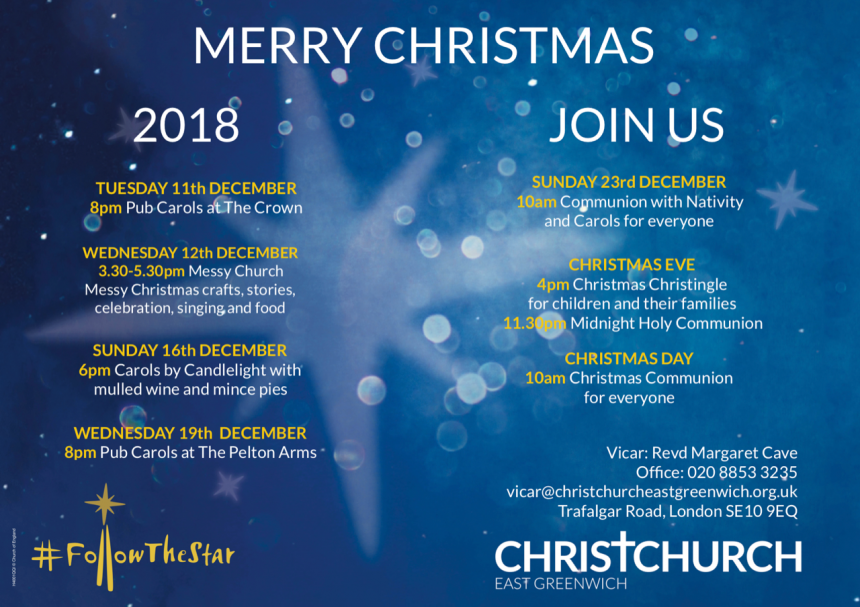 Christmas Services and Events Coming Up…